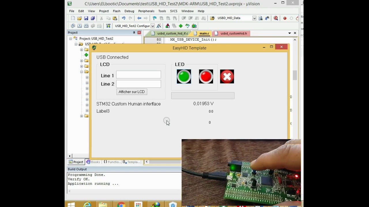Developing USB HID application with STM32Cube & Keil