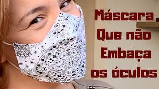 Máscara Que Não Embaça Os Óculos