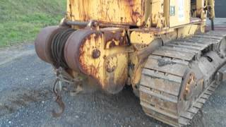 1984 caterpillar d5b bull dozer with winch for sale inspection video