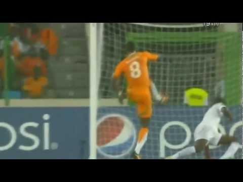 CAN 2012 -  Tous les Buts de la Côte d'Ivoire