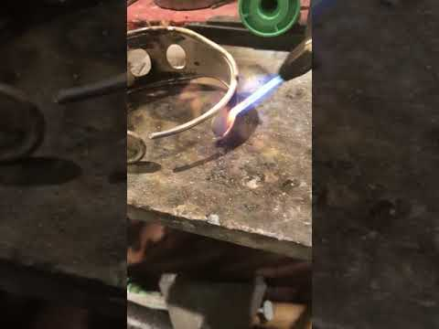 Careful now- making a bespoke piece of jewellery and its very hot!