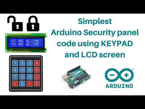 Simple Code for Arduino+keypad Door Lock Systems for Beginners