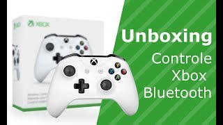 UNBOXING CONTROLE XBOX ONE S NO PC COM CABO USB