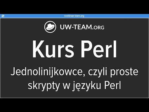 Kurs Perl - Jednolinijkowce, czyli programowanie prostych skryptów w Perlu
