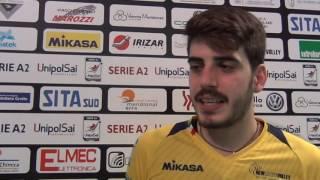 14-12-2016: #delmontecoppa Luca Presta nel post New Mater - Civita Castellana 2-3