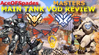 AceOFSpades -- MASTERS MAIN TANK VOD REVIEW [ NOW HE A TOP 500 GAMER ]