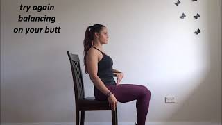 Seated leg mobility and core
