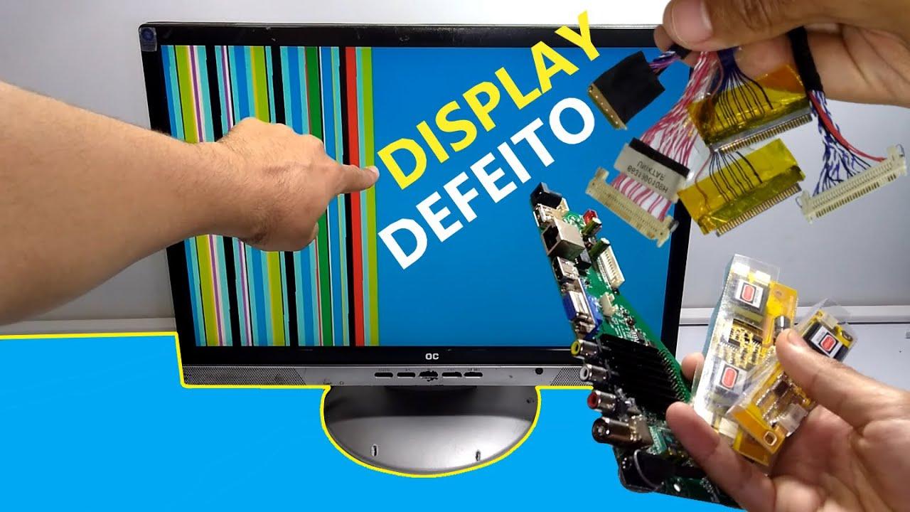O que acontece ao ligar CABO LVDS incorreto EM TELAS LCD - MAIS INFORMAÇÕES sobre DISPLAY/TELAS/LCD