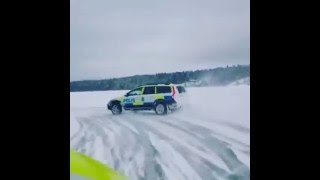 Swedish Police Drift Snow HD