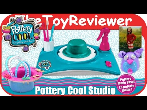 Pottery Cool Studio Clay Wheel Spin Master Unboxing Toy Review by TheToyReviewer