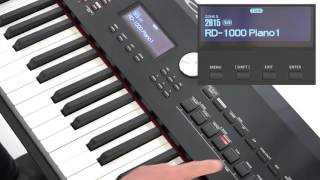 """""""Selecting Tones"""" Roland RD-2000 #01"""