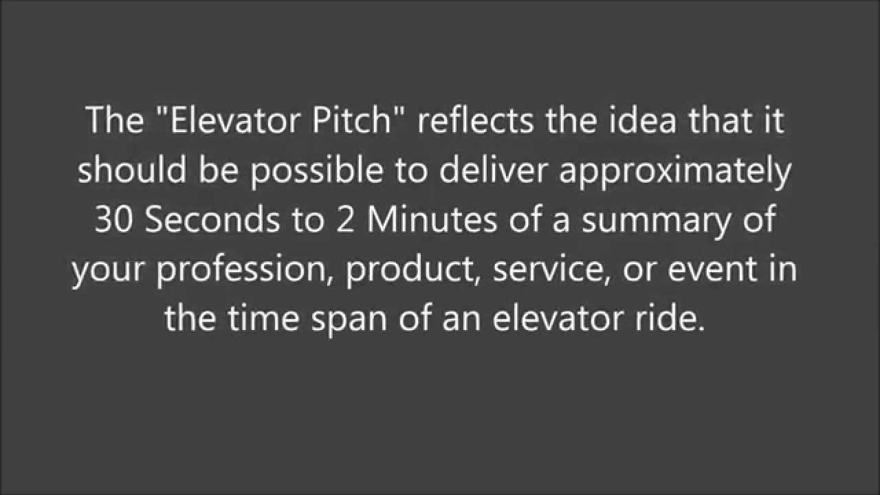 how to sell yourself in 2 minutes elevator pitch elevator pitch