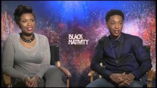 Gambar cover Black Nativity: Jennifer Hudson & Jacob Latimore Offiical Movie Interview