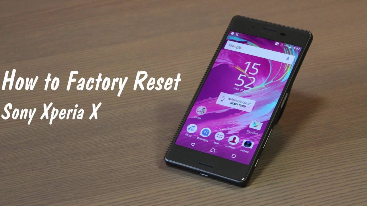 How to factory reset a Sony Xperia X