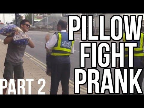 PILLOW FIGHT PRANK | PART 2 IN BRADFORD AKA THE HOOD