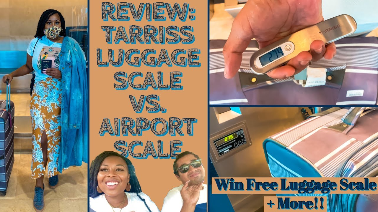 REAL AIRPORT REVIEW: Tarriss Luggage Scale VS. Airport Scale | How to Use | FREE Giveaway!!!