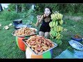 village food factory | how to cooking bananas with sugar receipt