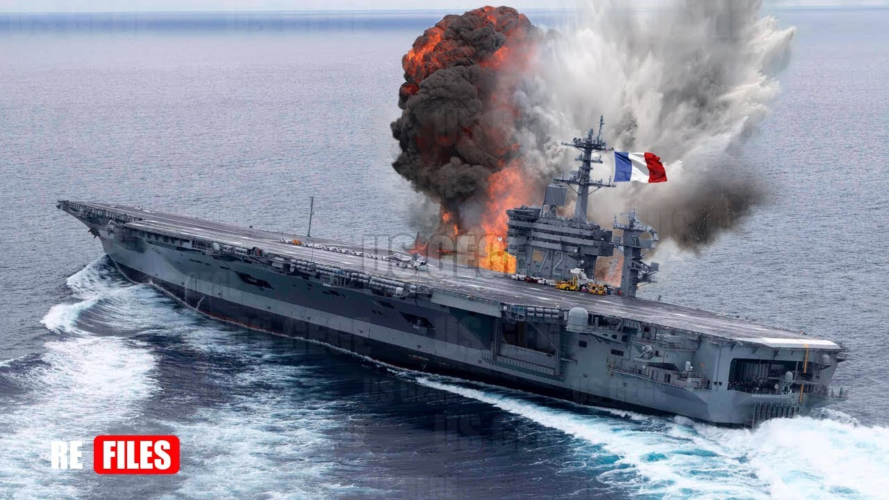 (Jun 14,2021) UK Aircraft carrier & French Carrier Shoot Nuclear to Same Direction in Mediterranean