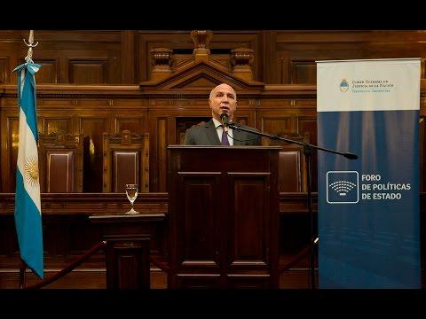 Lorenzetti encabezó un nuevo encuentro del Foro de Políticas de Estado de la Corte Suprema