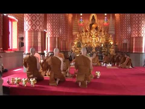 Dhammayut Ordination of 3 western monks