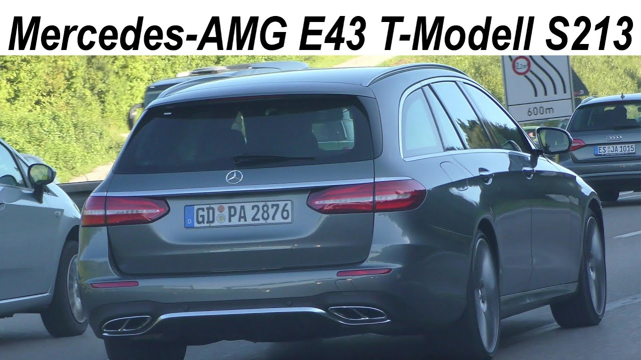 mercedes amg e43 t modell s213 2017 estate spotted on the highway auf der autobahn youtube. Black Bedroom Furniture Sets. Home Design Ideas