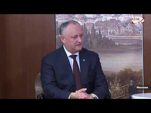 Президент Ильхам Алиев встретился в Мюнхене с Президентом Молдовы Игорем Додоном