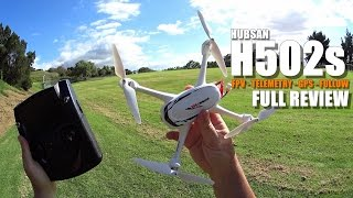 HUBSAN X4 H502s GPS QuadCopter Drone Full Review - [UnBox, Setup, Flight Test, Pros & Cons]