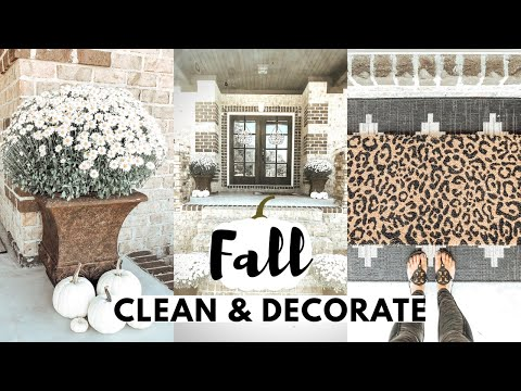 FALL CLEAN & DECORATE WITH ME | FALL FRONT PORCH TOUR 2019 | FALL PORCH DECOR