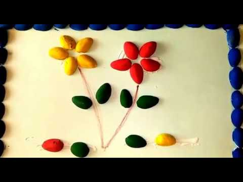Kids Craft Pista Shell Flower Activity Youtube