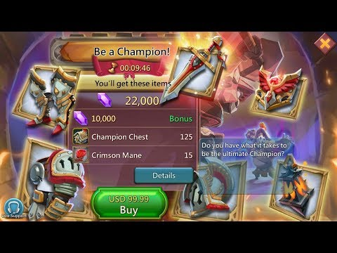 Lords Mobile : Buying 300 Champion Packs In SGE - Thanks Sugarkane