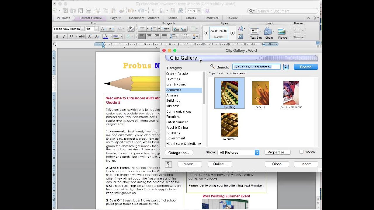 Microsoft word basic instructions for a newsletter template youtube spiritdancerdesigns
