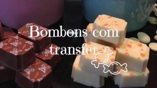 COMO FAZER BOMBOM DESENHADO - TRANSFER PARA CHOCOLATE