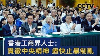 香港工商界人士呼吁:贯彻中央精神 尽快止暴制乱 | CCTV
