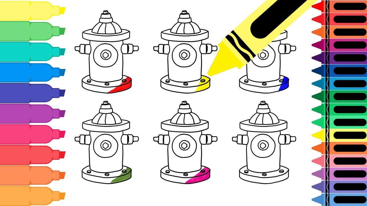 How To Draw A Colorful Fire Hydrant