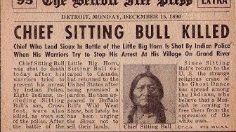 Sitting Bull`s letzte Rede