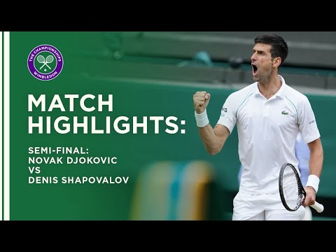 Novak Djokovic vs Denis Shapovalov | Semi-Final Highlights | Wimbledon 2021