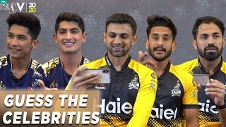 Guess the Celebrity Part Two | HBL PSL Stars try and guess Pakistani Musicians and Internet stars.