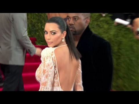 Kim Kardashian Is Stunning In A Sheer Dress With Kanye West At The 2015 MET Gala