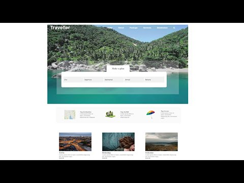 Simple Travel Website With Video Background Theme Using Html Css Only