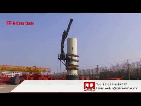 Pillar/Pole Climbing Crane for Wind Turbine Maintenance