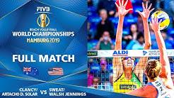 Clancy/Artacho Del Solar vs. Sweat/Walsh Jennings - Full | Beach Volleyball World Champs Hamburg '19