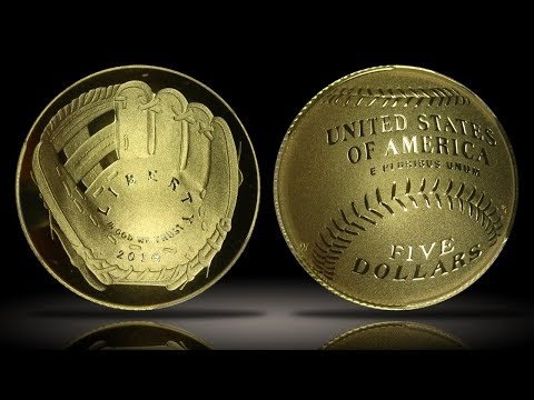 2014-W Baseball Hall Of Fame $5 Gold Commemorative PCGS PR70DCAM Curved Coin