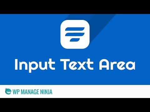 Text Area Input Field in WP Fluent Form WordPress Plugin