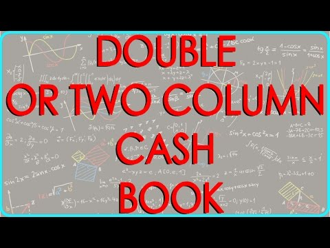 CA - CPT | DOUBLE OR TWO COLUMN CASH BOOK