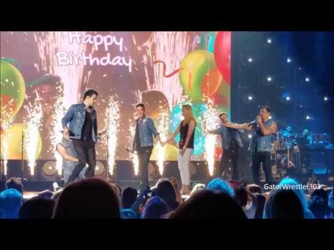 NKOTB Jon Sings Happy Birthday Total Package Tour Denver 61017 21st Song of Show
