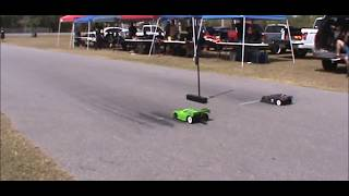 RC CAR DRAG RACING  KISSIMMEE FL  132FT 10 & 8TH SCALE
