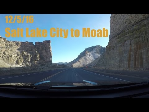 Salt Lake City to Moab to Red Cliffs Lodge (12/5/16)