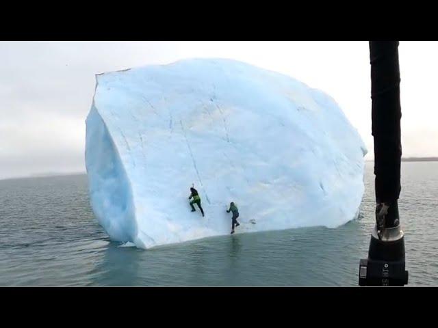 Giant Iceberg Almost Crushes 2 Men