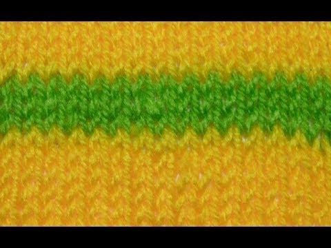 Kleur Wisselen In Breiwerk Recht En Averecht Youtube