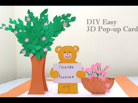 DIY: 3D Pop-Up Greeting Card  For Friends| Beautiful Handmade Gifts |Easy Greeting Cards ideas